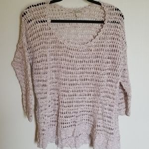 Lucky Brand Tan Chunky Loose Knit Sweater M
